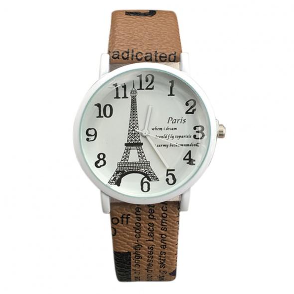 Zegarki Brązowy Zegarek Damski Paris