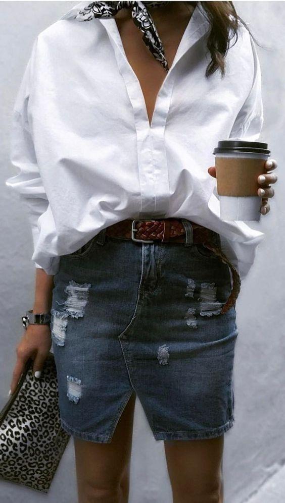 Codzienne Koszula biała