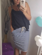 Marynarska spódnica dresówka