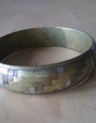 Mosiężna metalowa bransoleta
