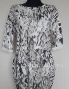 Sukienka oversize sznurek biała szara
