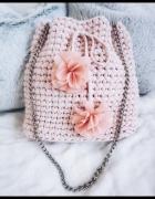 torebka bucket crochet worek