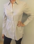 koszula beżowo biała cudna