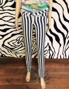 spodnie w paski Tally Weijl 34 XS