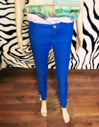 spodnie rurki niebieskie 34 Denim