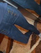 Rurki treginsy jeansy Zara XS z metki 34