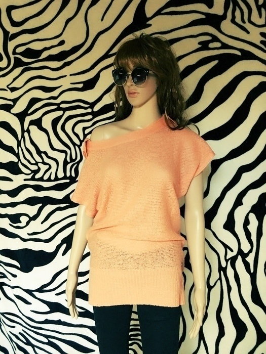 Swetry sweter tunika morelowy 34 XS S Oliver