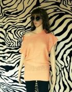 sweter tunika morelowy 34 XS S Oliver
