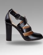 Czarne sandałi szpilki Wojas...