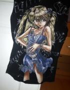 Czarna bluzka anime...