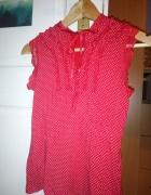 Czerwona nietypowa bluzka