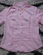 Koszula Różowa Przewiewna Rozm S złote guziki