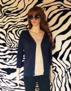 sweterek Zara 38 M Granatowy guziki
