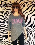 szara bluza sweter napis cool