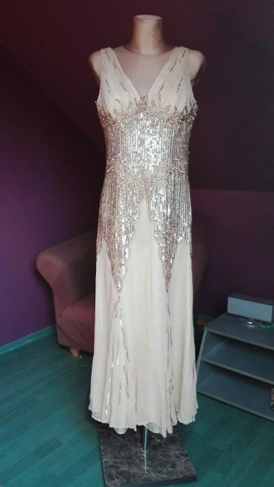 5ace57e262 Jedwabna suknia wieczorowa z USA r XL w Suknie i sukienki - Szafa.pl