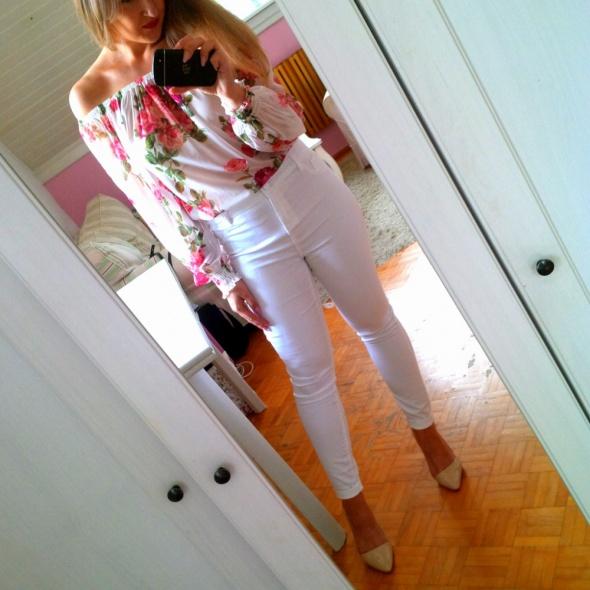 Mój styl białe kwiaty