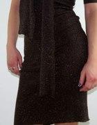 sukienka z brokatem S