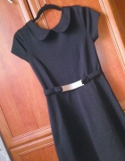 cudna sukienka rozkloszowana ze zlota blaszka