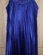 Sukienka szafirowakobaltowaelegancka 34 diamenty