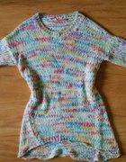 Sweterek kolorowy oversize