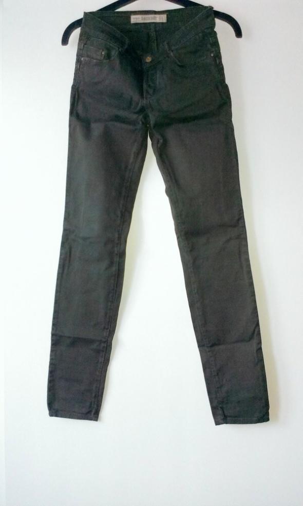 Spodnie spodnie rurki zara ciemna zielen khaki 34 XS