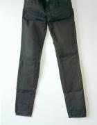 spodnie rurki zara ciemna zielen khaki 34 XS