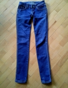 spodnie rurki ciemny jeans 36S