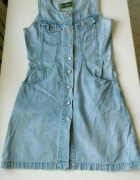 Jeansowa sukienka z guzikami rozm XS