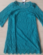 H&M koronka sukienka morska zieleń...