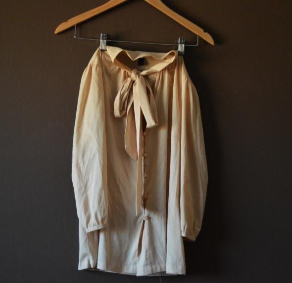 VERO MODA koszula nude wiązana elegancka S...