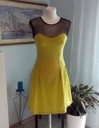 Limonkowa sukienka r s m wysyłka gratis