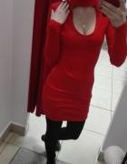 BORDOWA Sukienka z hokerem xs s