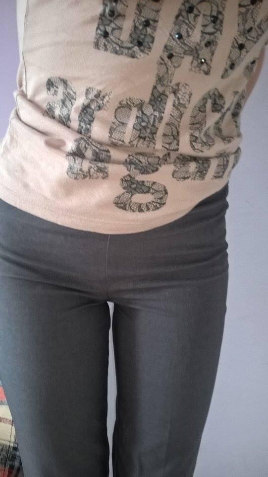 eleganckie szare spodnie...