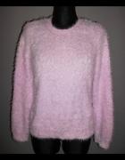sweter fluffy futrzak pudrowy róż