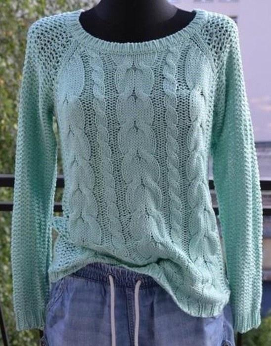 Sweterek miętowy Reserved...