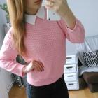 Różowy sweterek z kolnierzykiem