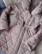 beżowy zimowy płaszczyk kurteczka 38 40