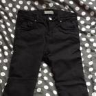 czarne spodnie bershka rurki xs s 34 36