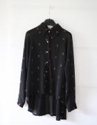 Romwe czarna koszula w krzyże