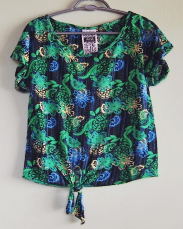 koszulka bluzka vintage NEXT kwiatki rozmar 38 M...