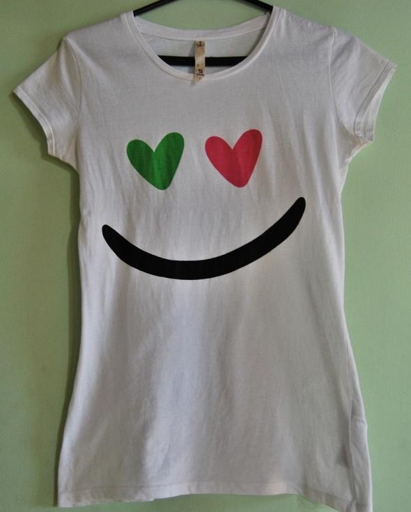 Koszulki bluzka koszulka House S biała smile