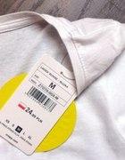biała luźna bluzka cropp