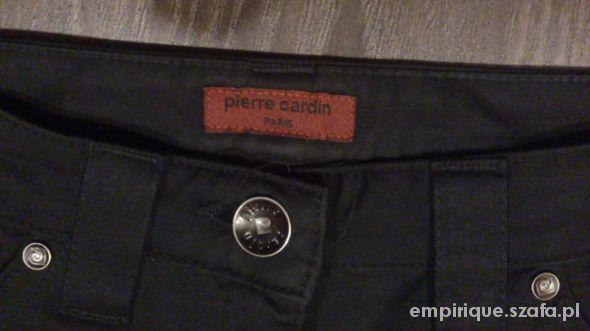 czarne eleganckie spodnie pierre cardin...