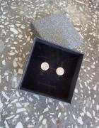 Kolczyki srebrne wkrętki cyrkonie