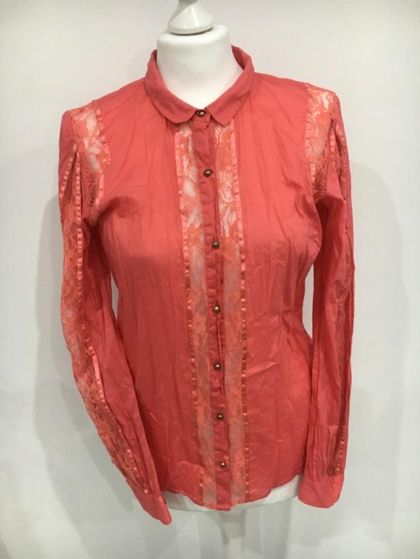 Vero Moda koralowa koszula z koronką...