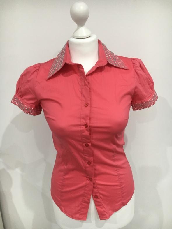 Lady Elite koszula z cyrkoniamisoczysty kolor...