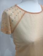 Łososiowa bluzka Mohito z cyrkoniami