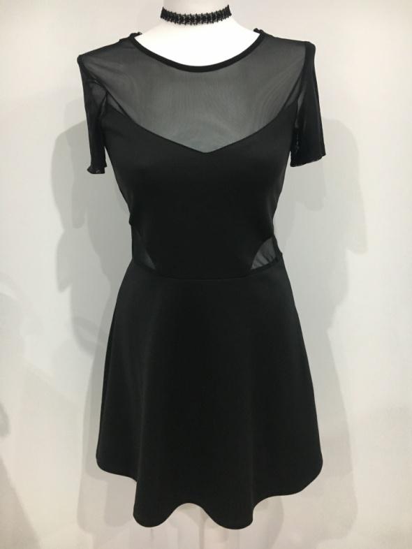 Sukienka H&M czarna z siateczką