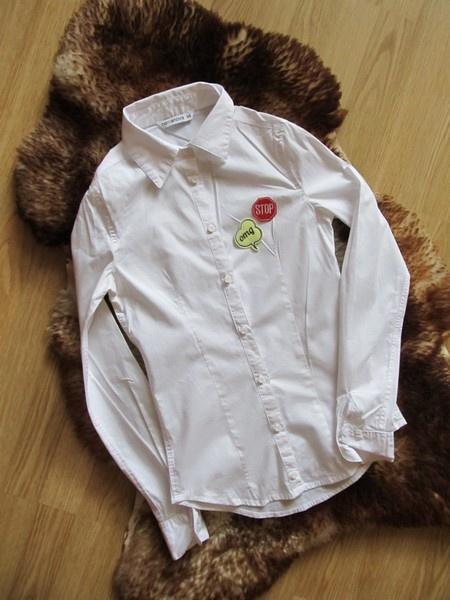 Biała koszula z naszywkami Terranova XS