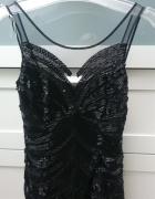 Lipsy sukienka czarna z koralików
